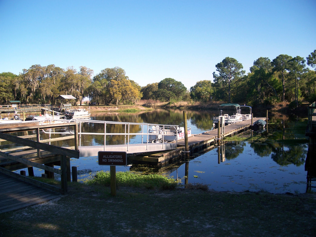 Lake Kissimmee is the largest lake in the chain, and offers plenty of docks and piers where you can drop a line.