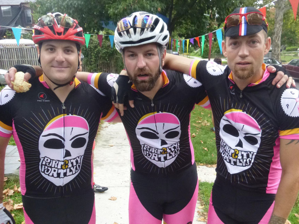 Biking events in DC are often dusted with themed gear.