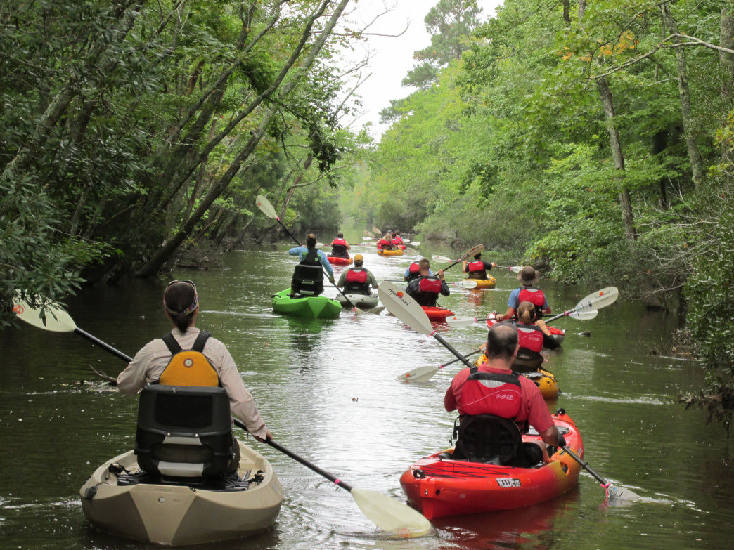 Wild River staff take time to paddle together on area streams.