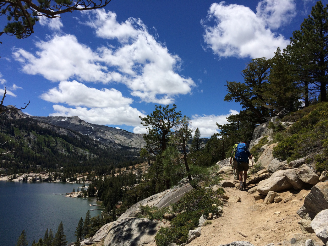 The Tahoe region of the Pacific Crest Trail offers stunning lake views.