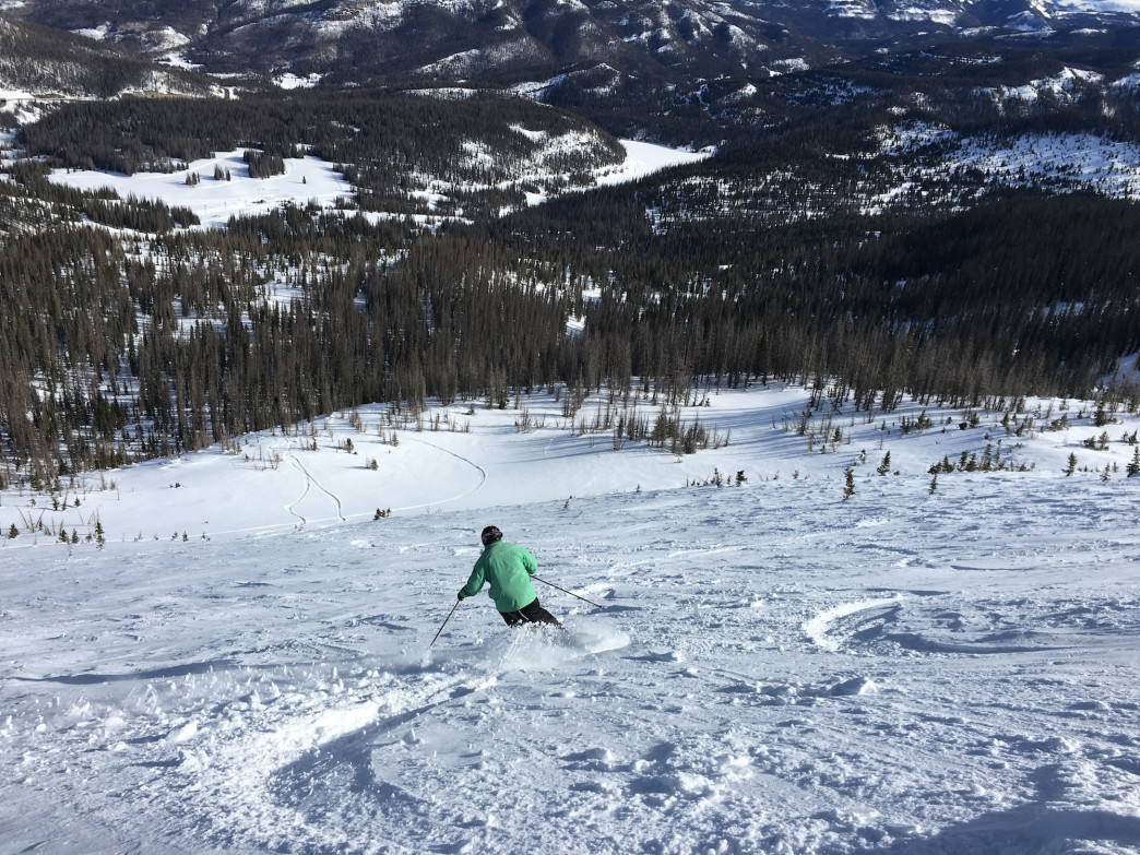 Wolf Creek dishes up freshies off Alberta Peak.