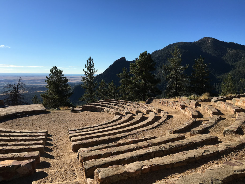 From Flagstaff's Sunrise Circle Amphitheater, you can see Green Mountain beckoning to the right.