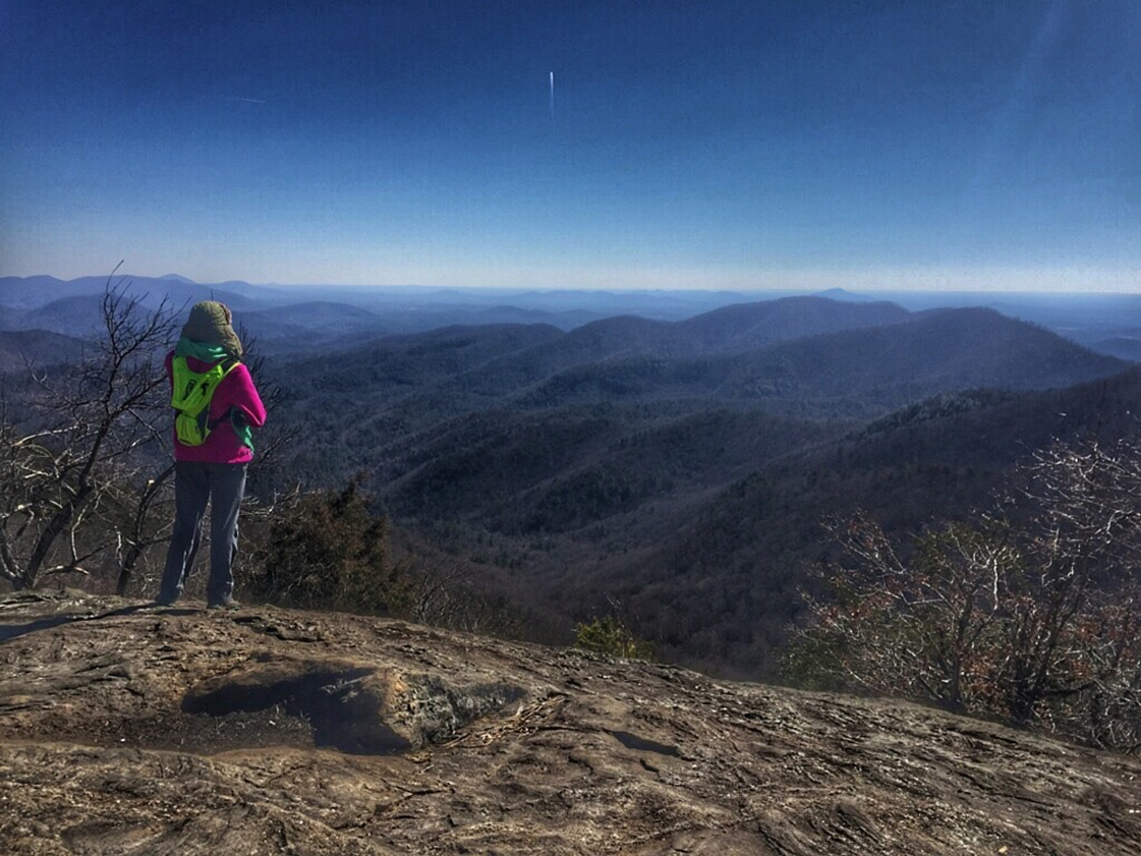 You can find beautiful views from Preacher's Rock along the Appalachian Trail in Atlanta Georgia.