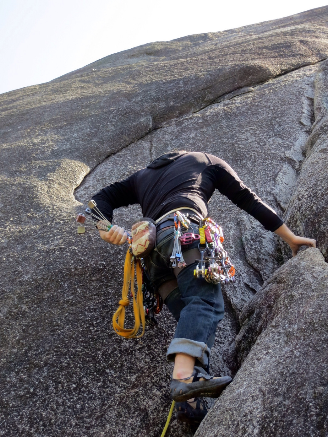 Trad is the most time consuming and committing type of climbing.