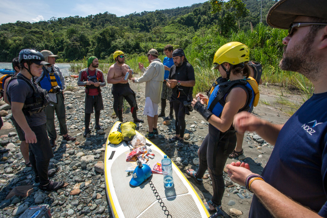 Snack breaks on the river are impromptu, and often turn into group planning sessions for the next section of river… and a bit of storytelling time.     Jess McGlothlin