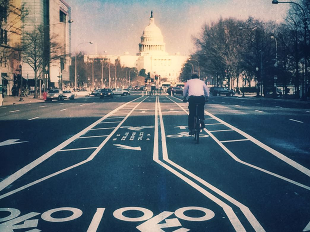 Area biker finds safer street cycling on Pennsylvania Avenue