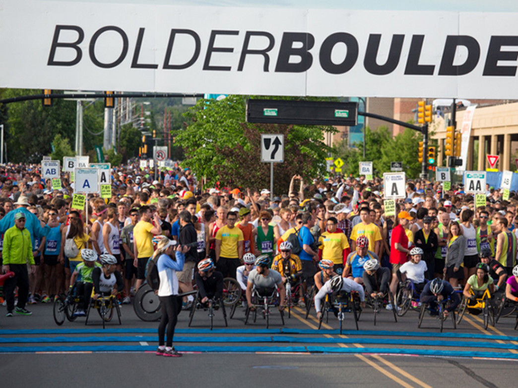 The BolderBOULDER attracts 50,000 runners, walkers, and wheelchairs for a 10K race.