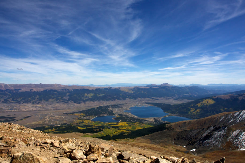 Summit views from Mount Elbert.