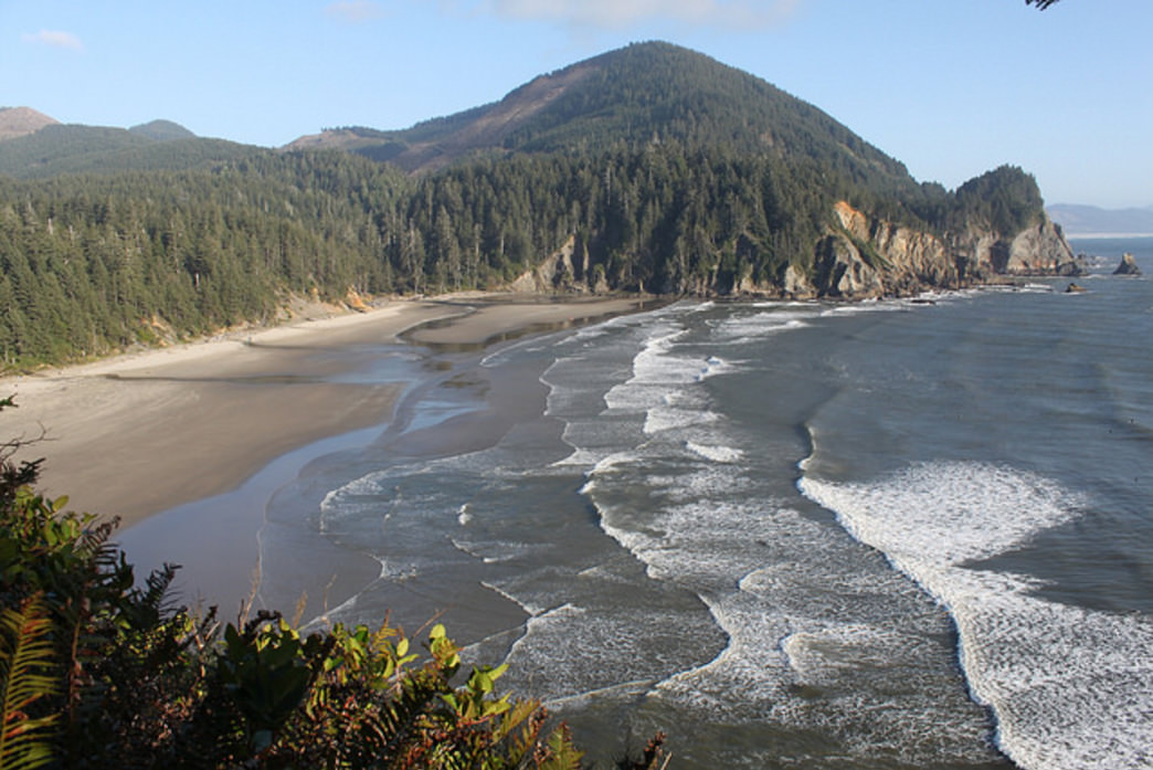 Cape Falcon offers views of Smugglers Cove and Neahkahnie Mountain en route to a bluff overlooking the Pacific Ocean.