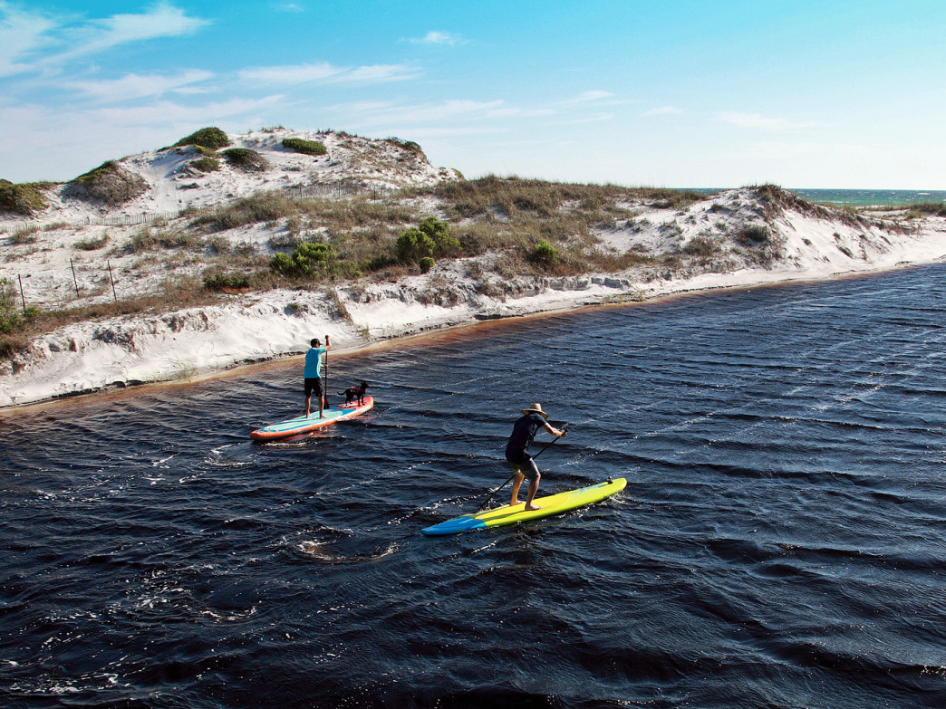 Paddling in South Walton.