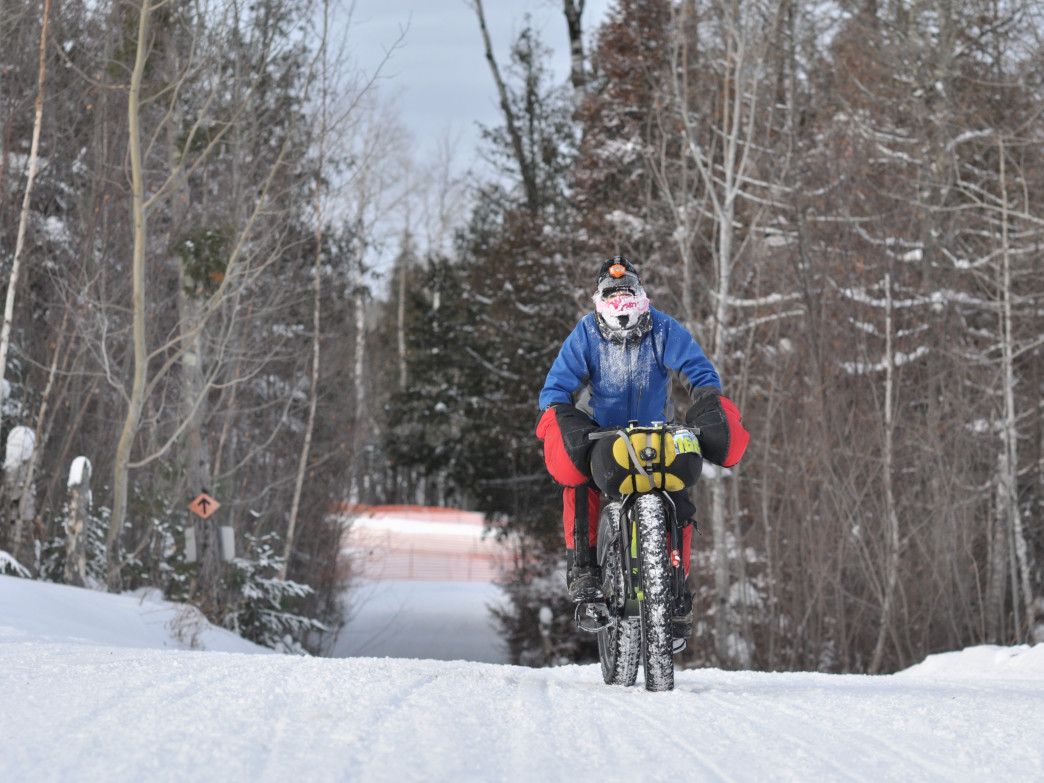 New fat-tire riders will enjoy the majority of the relatively easy trails at Lester Park.