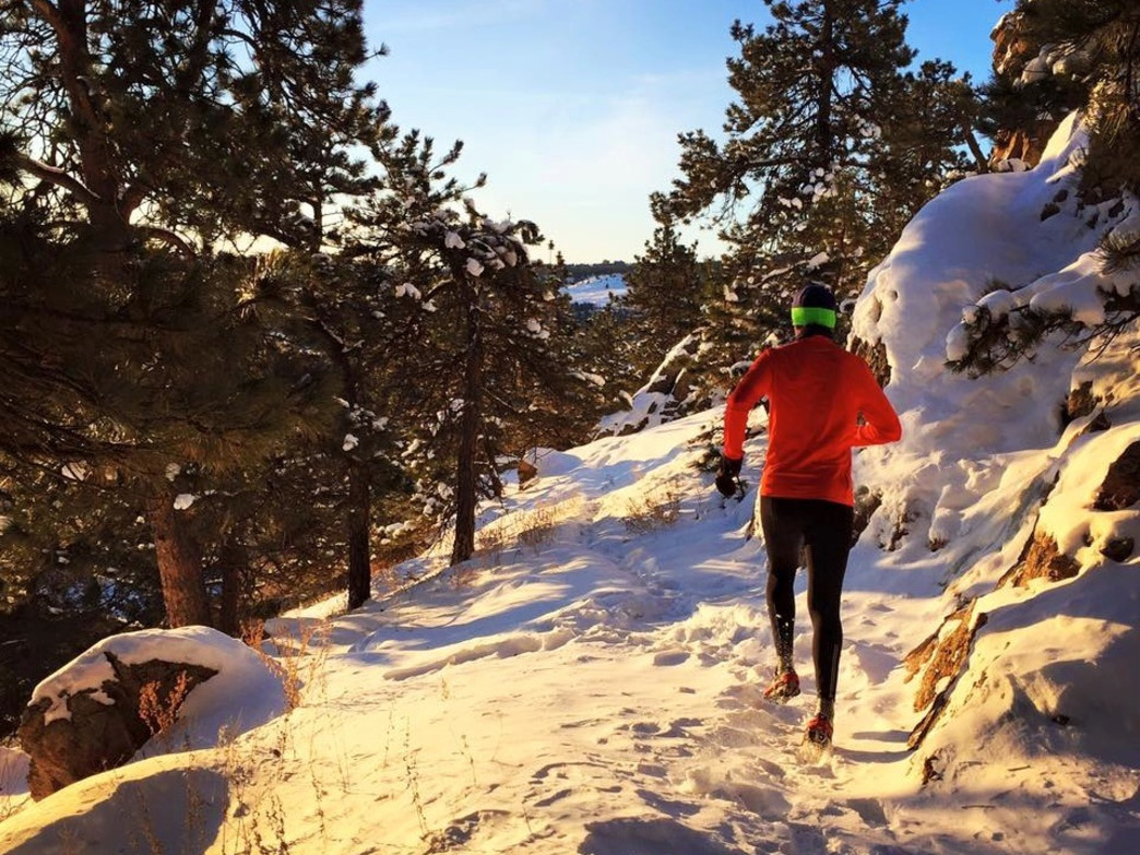 Scott Jurek logs serious miles on the trails in Boulder's backyard.
