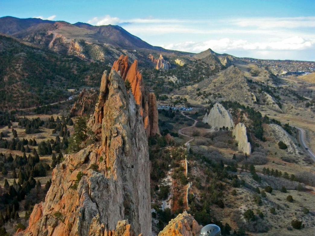 Climber on Gray Rock at the Garden of the Gods, CO, Courtesy of Deb Acord