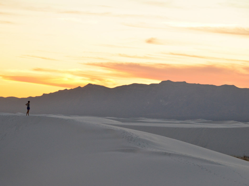 Finding solitude in New Mexico's White Sands National Monument.