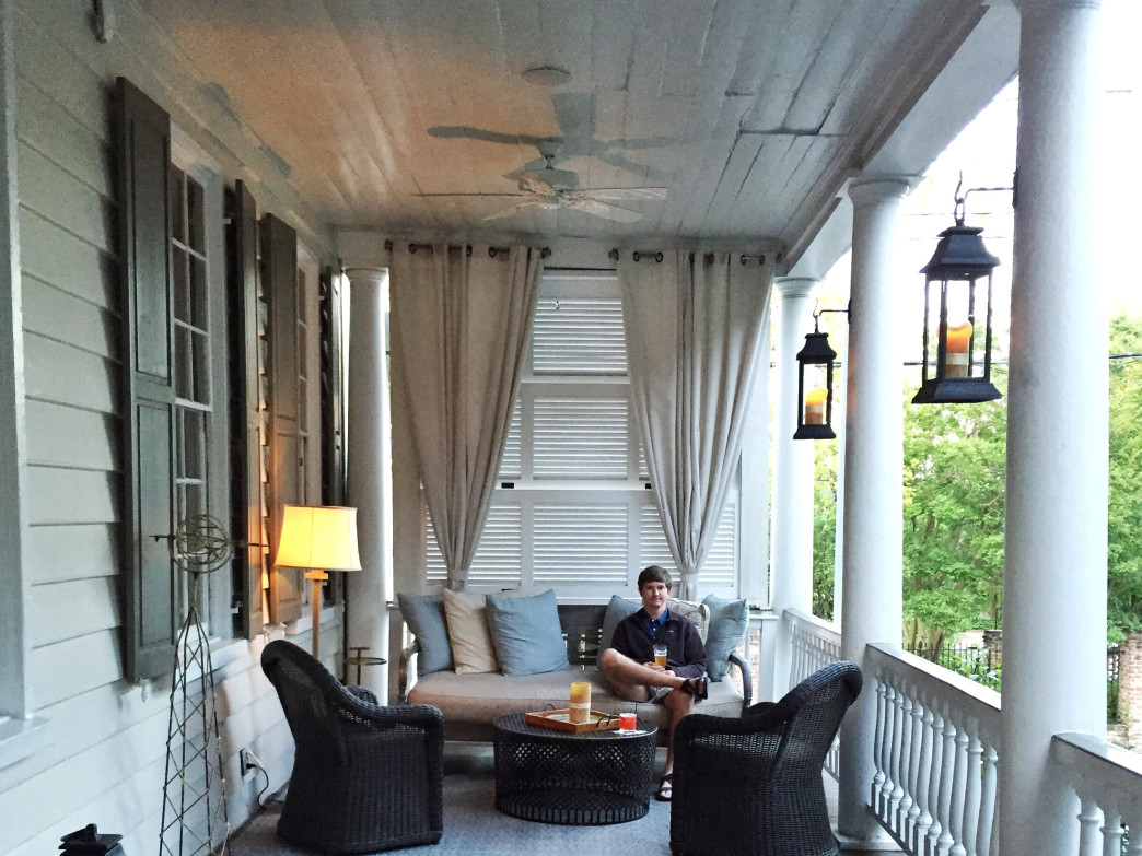 The Zero George Hotel features several Charleston-style porches.