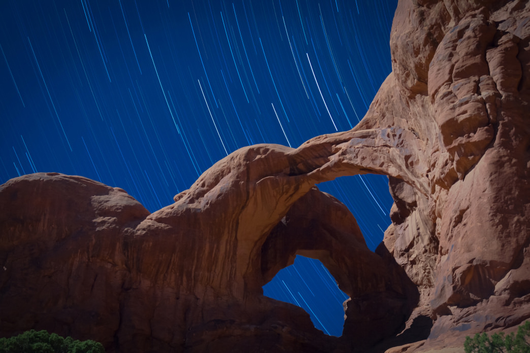 The beauty of camping in and around Moab is that many sites are at or near trailheads, so you can stargaze all night.