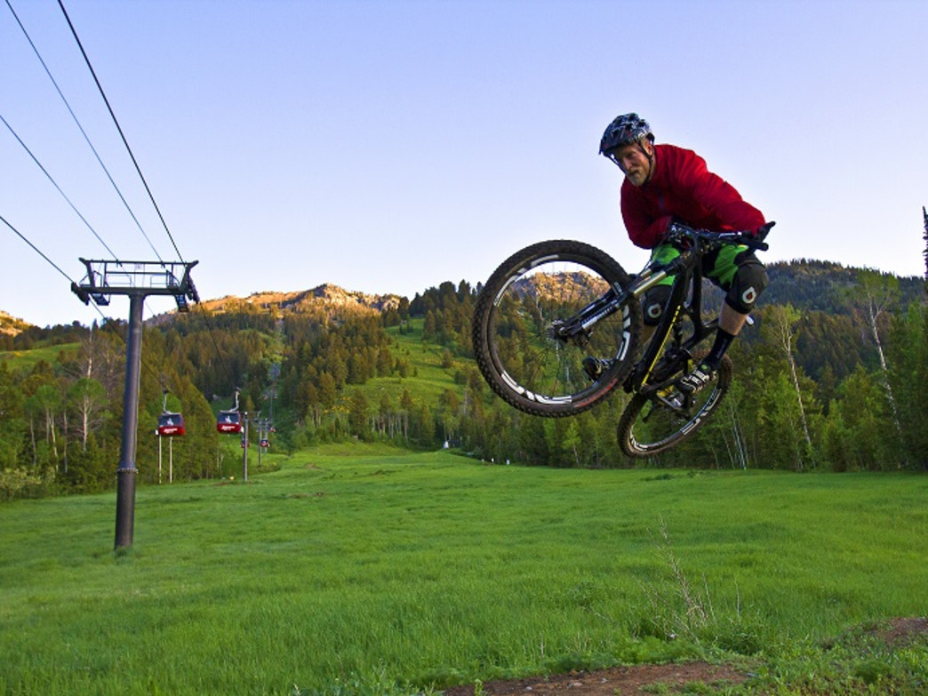Catch some air on the trails at JHMR's Bike Park.