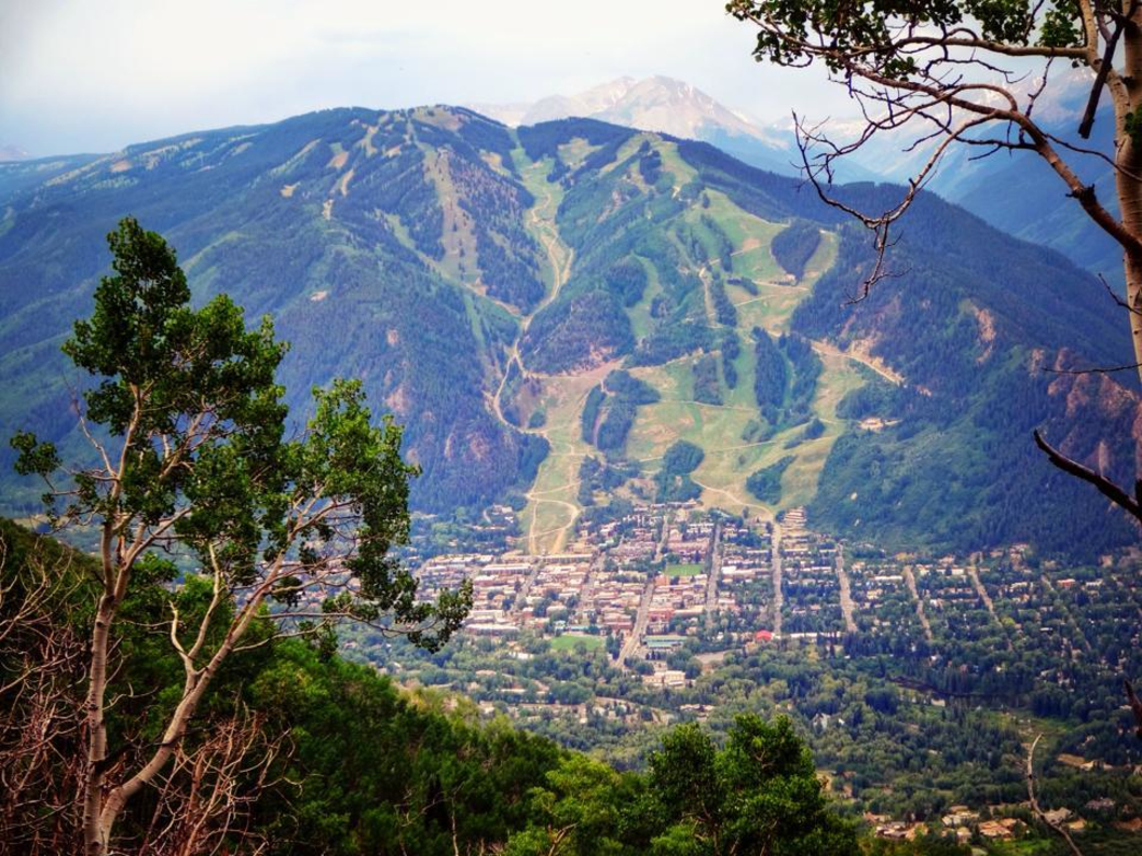 The view of Aspen Mountain from Sunnyside Trail.