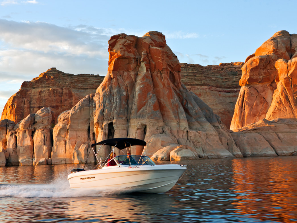 Boating on Lake Powell.