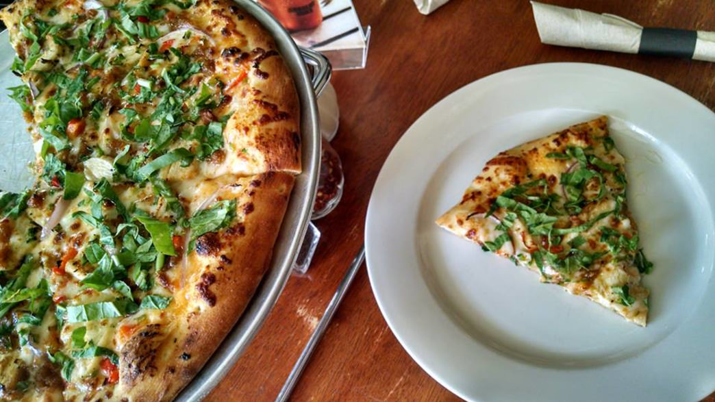 Dig into a slice of farm-to- table pizza.