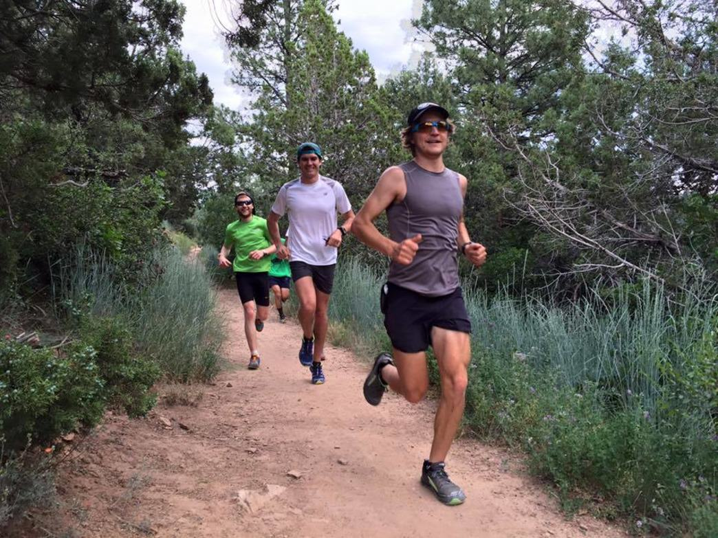 The Durango Running Club finishing up a hearty trail run at Animas Mountain