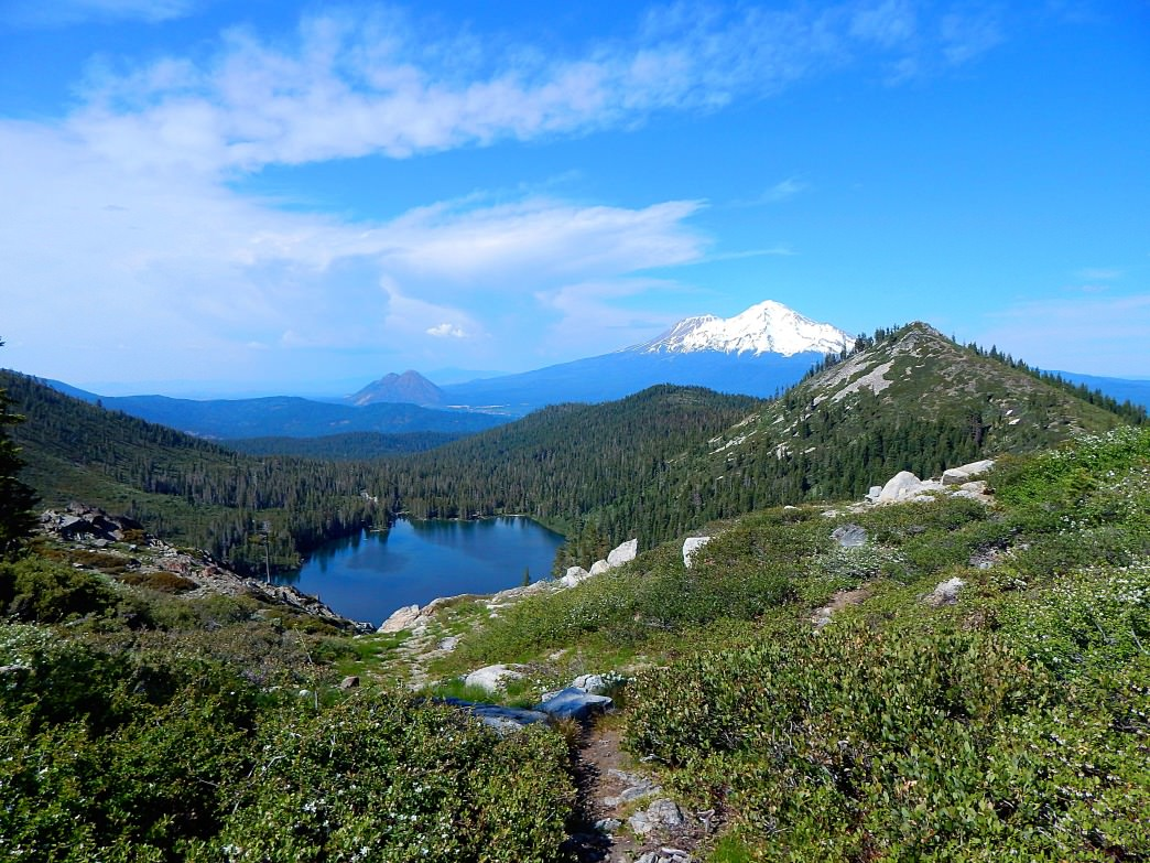 After arriving at Heart Lake, you are treated with amazing views of Castle Lake and Mt. Shasta.