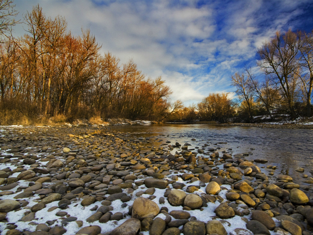 Solitude is one of the reasons to paddle the Boise River in early spring.