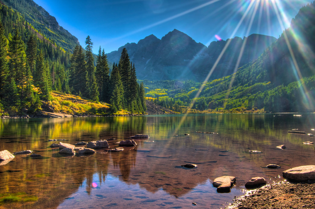 The Four Pass Loop begins in Maroon Bells—one of the most photographed landscapes in Colorado.