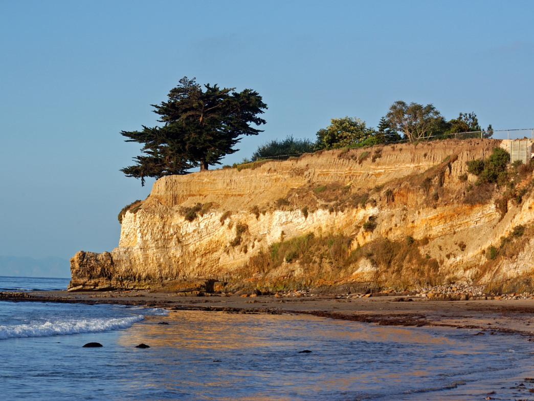 Leadbetter Beach is a popular spot for beginning surfers.