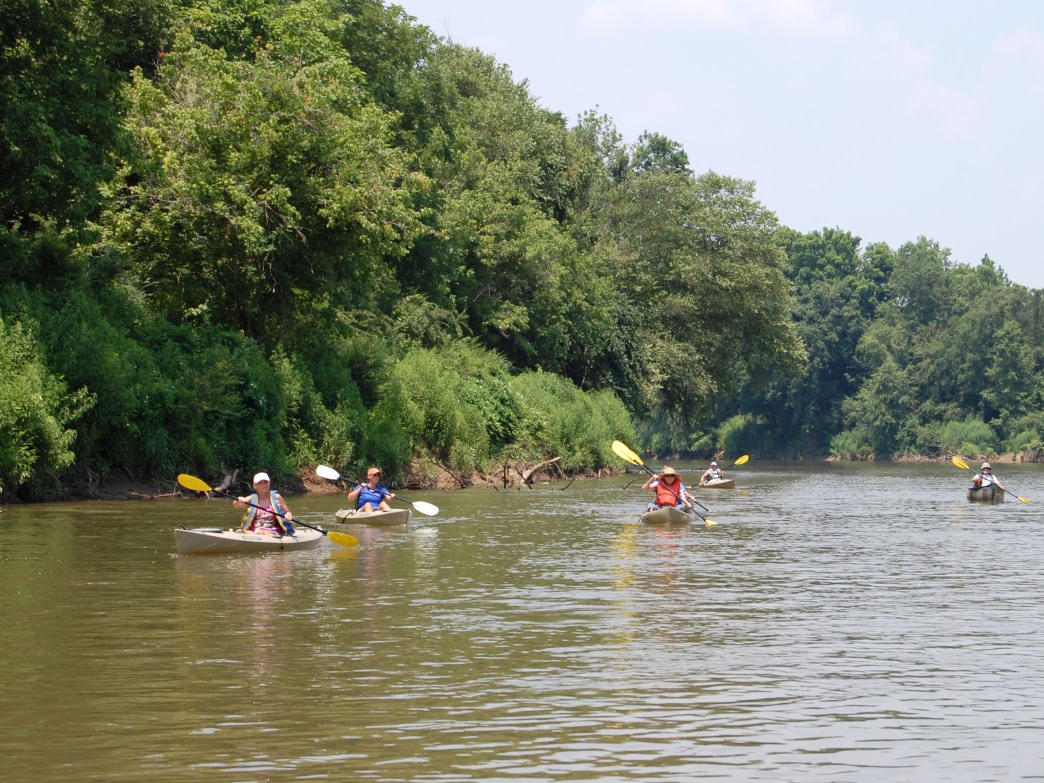 Kayakers at Chattahoochee Bend State Park.