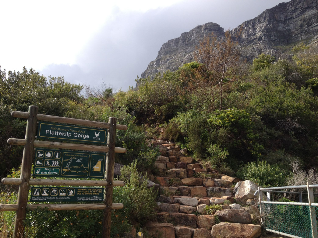 Table Mountain, one of the most iconic landmarks of Cape Town, beckons adventurous visitors with several rigorous hiking routes to its summit.     Blane Bachelor