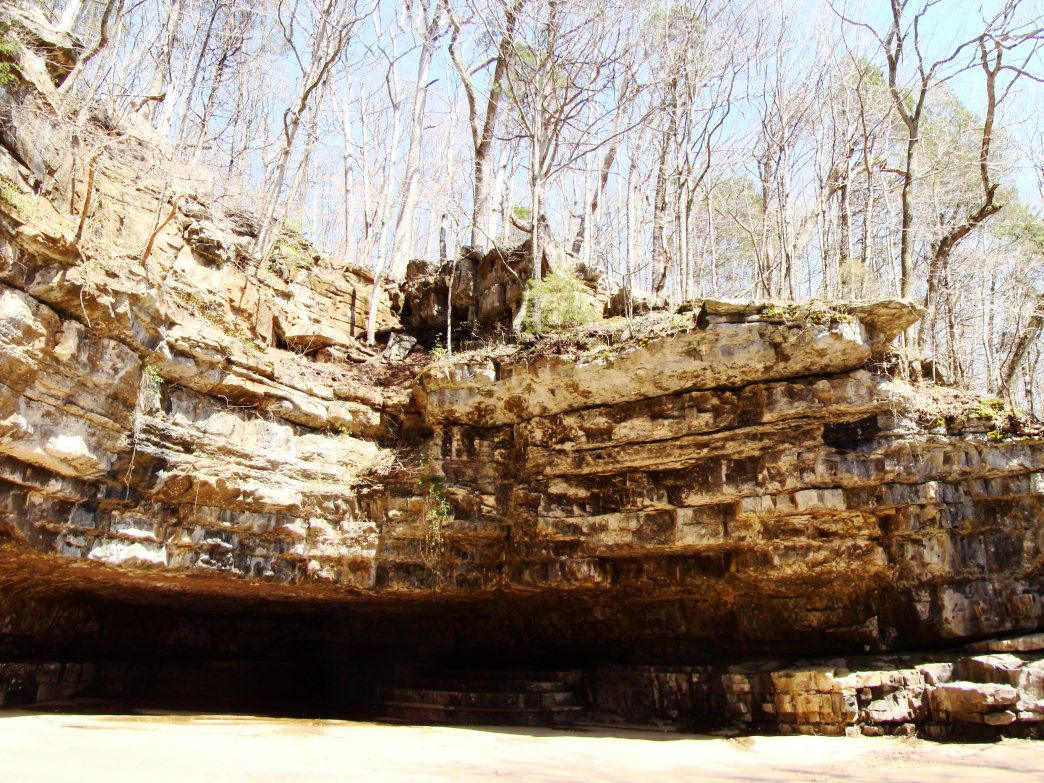 Hiking in Dunbar Cave State Park.