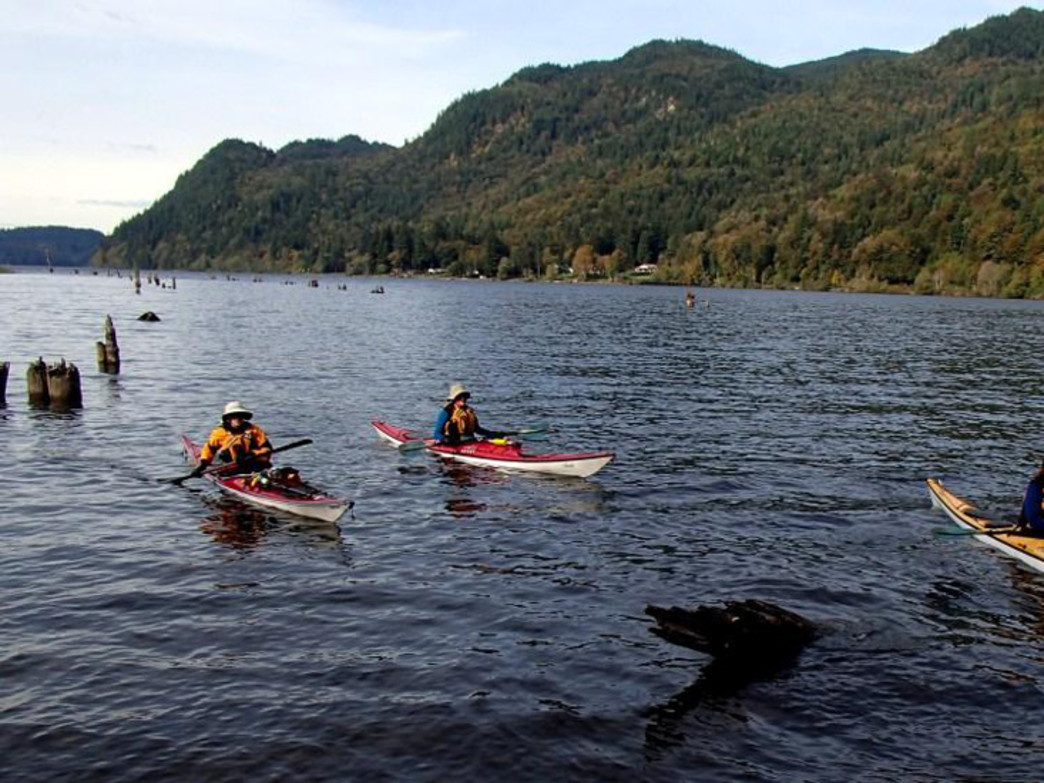 Paddling schools abound on Lake Whatcom.