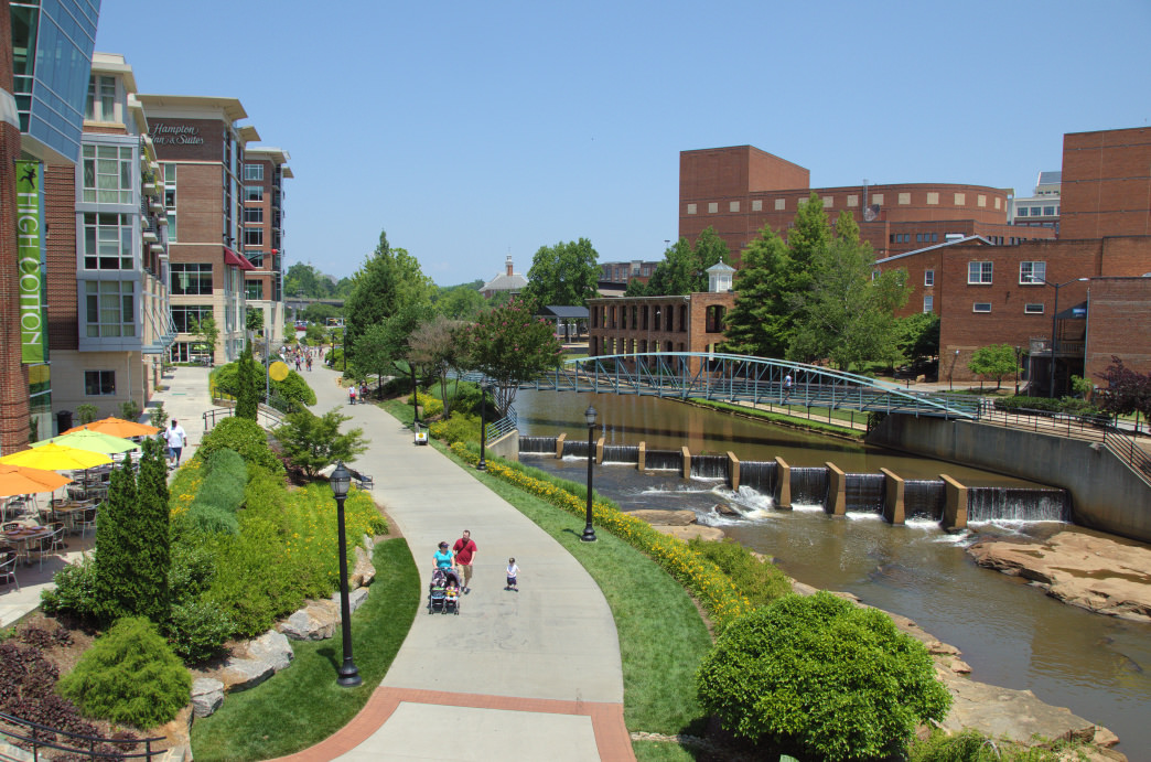 A modern city with a heart for the outdoors, Greenville is a must-visit locale for adventurers and their pups.