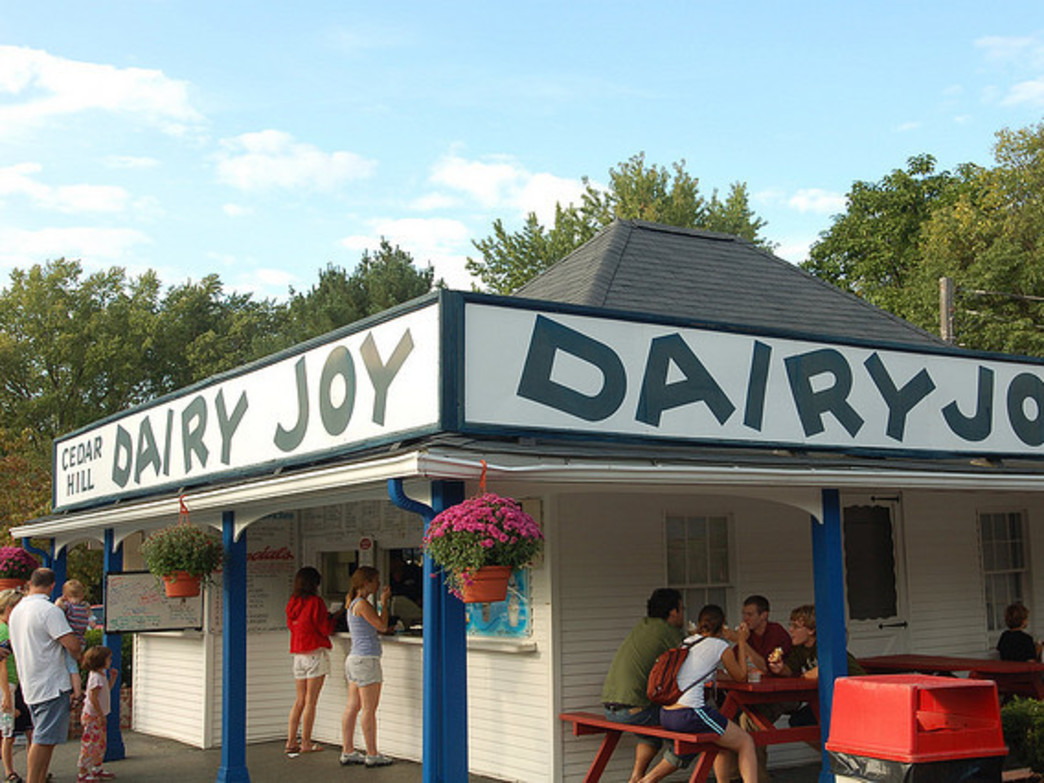 Cedar Hill Dairy Joy is the first of many tough decisions for your day of riding--do you start the ride with an ice cream cone or save it for the end?