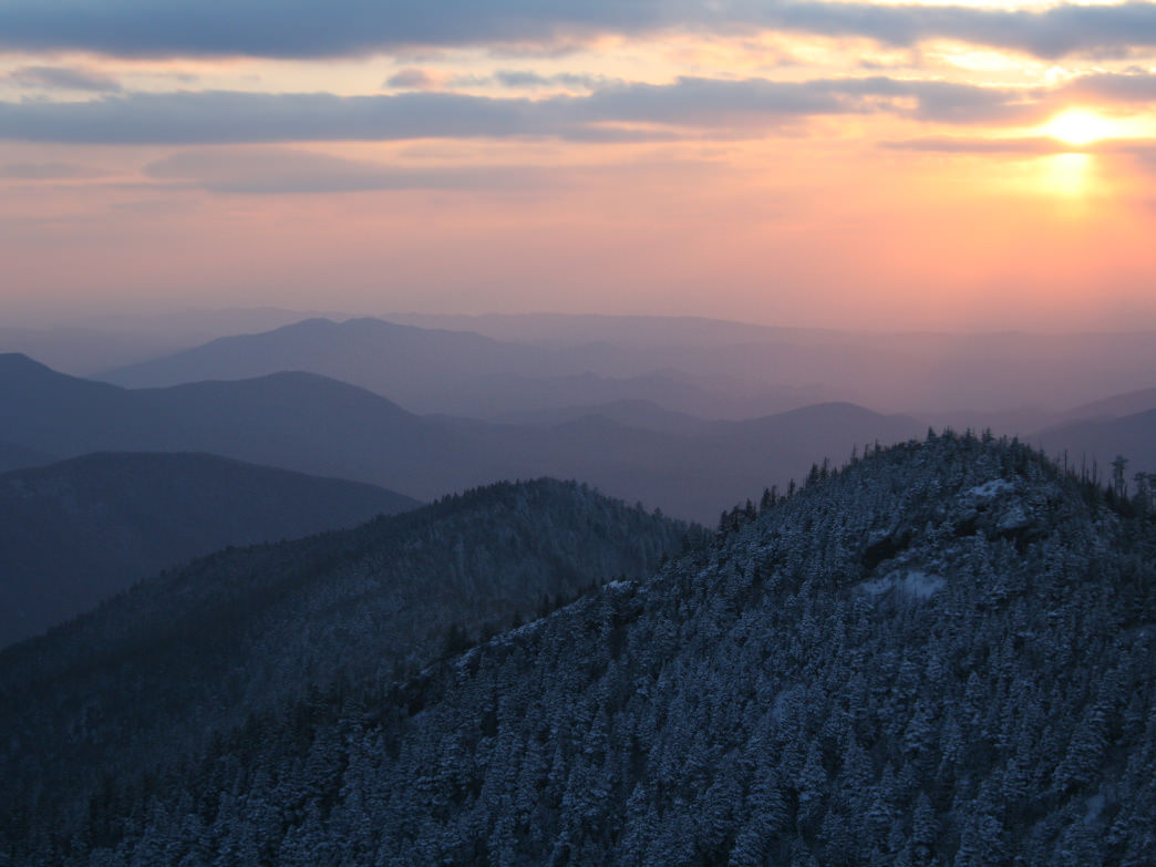 View of Mount LeConte in Great Smokey Mountain National Park, Tennessee.