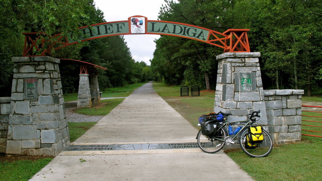 The Chief Ladiga Trail will take cyclists from Anniston, Alabama, to the Georgia state line.