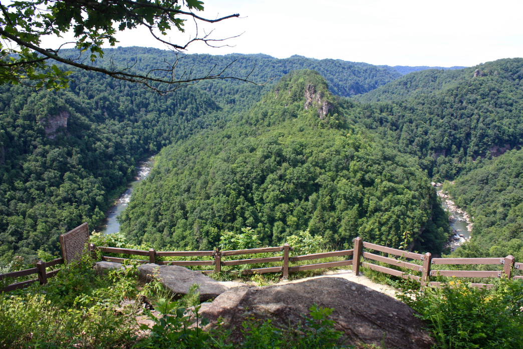 Paddle all day and then stay at Breaks Interstate Park, located on the On the Kentucky/Virginia border and overlooking the gorge.
