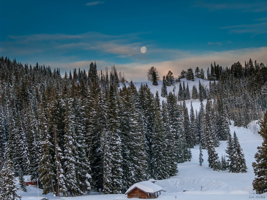 Grand Targhee is a serene winter wonderland in Wyoming.