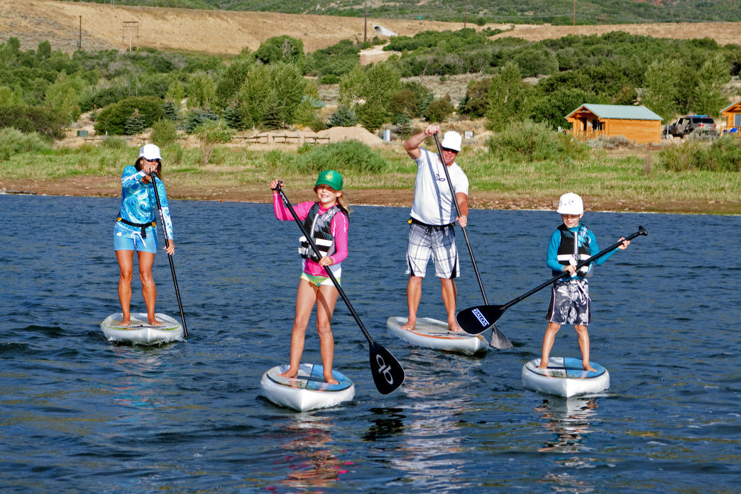 Stand-up paddleboards provide a fun and inexpensive way to enjoy the reservoirs.