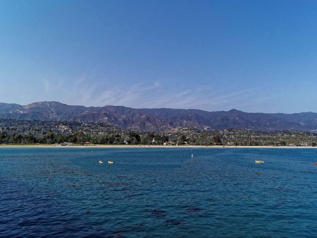 Santa Barbara's impressive beaches are easily accessible without a car.