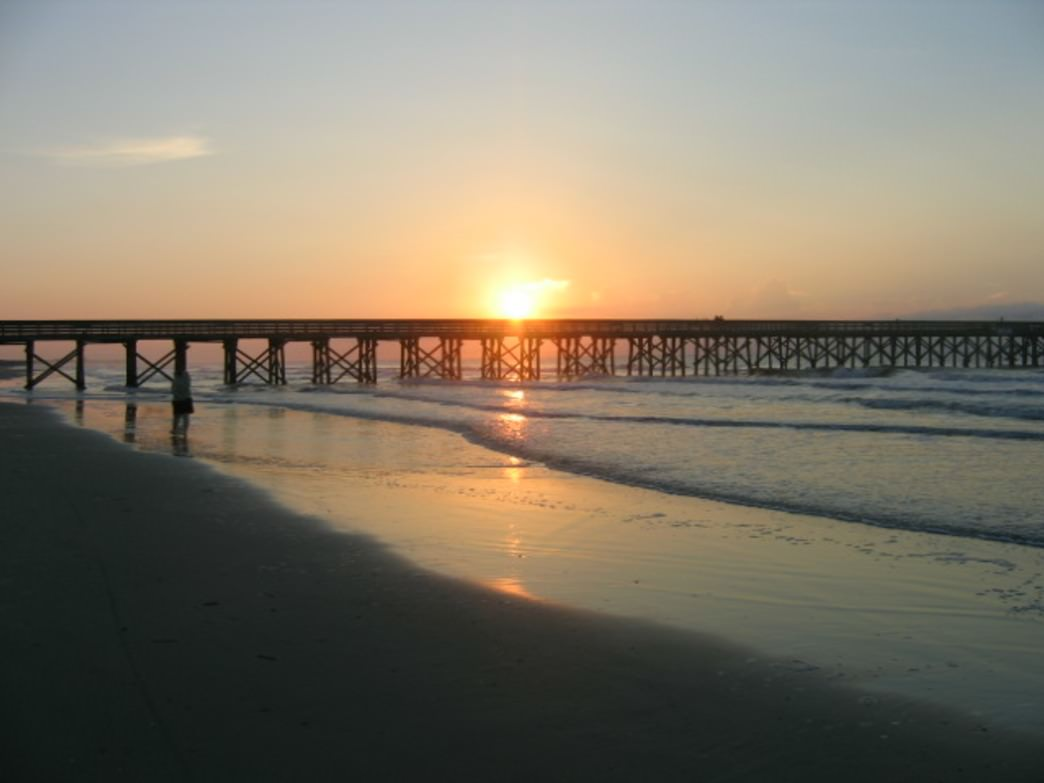 Sunrise over the Isle of Palms Pier.