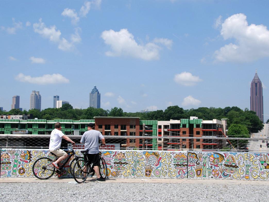 The BeltLine Trail is a great way to explore the city.