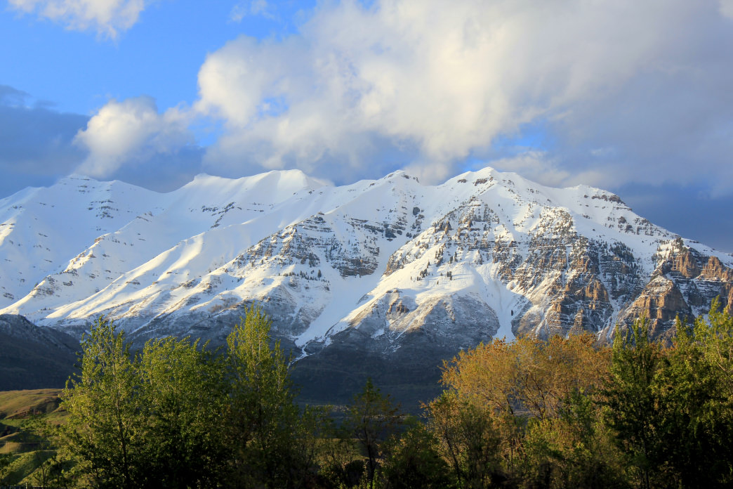The 11,752-foot tall Mount Timpanogos is the second highest peak in the Wasatch range.