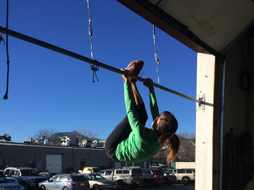Laura Mayo works out at Alpine Training Center so she can stay strong enough to tackle new adventures with physical confidence