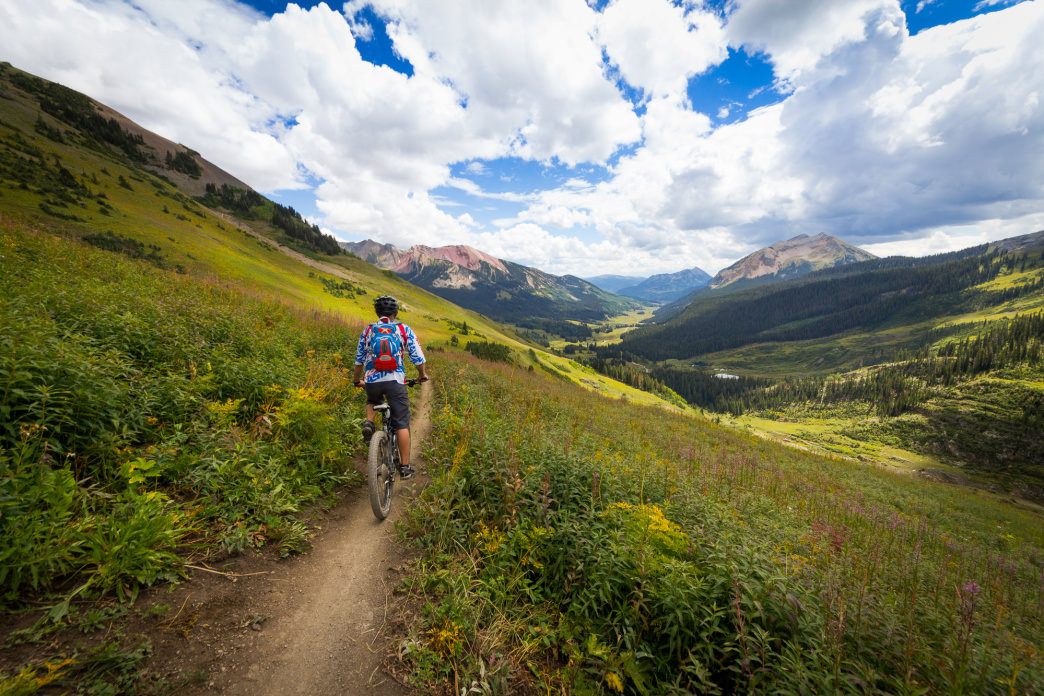 Riding down the 401 trail in Crested Butte, CO.