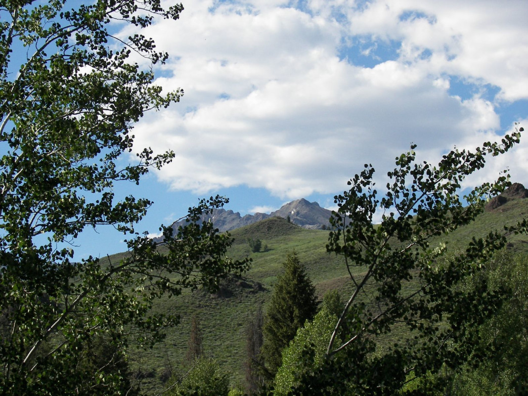 A view of Boulder Mountains, Sun Valley, Idaho.