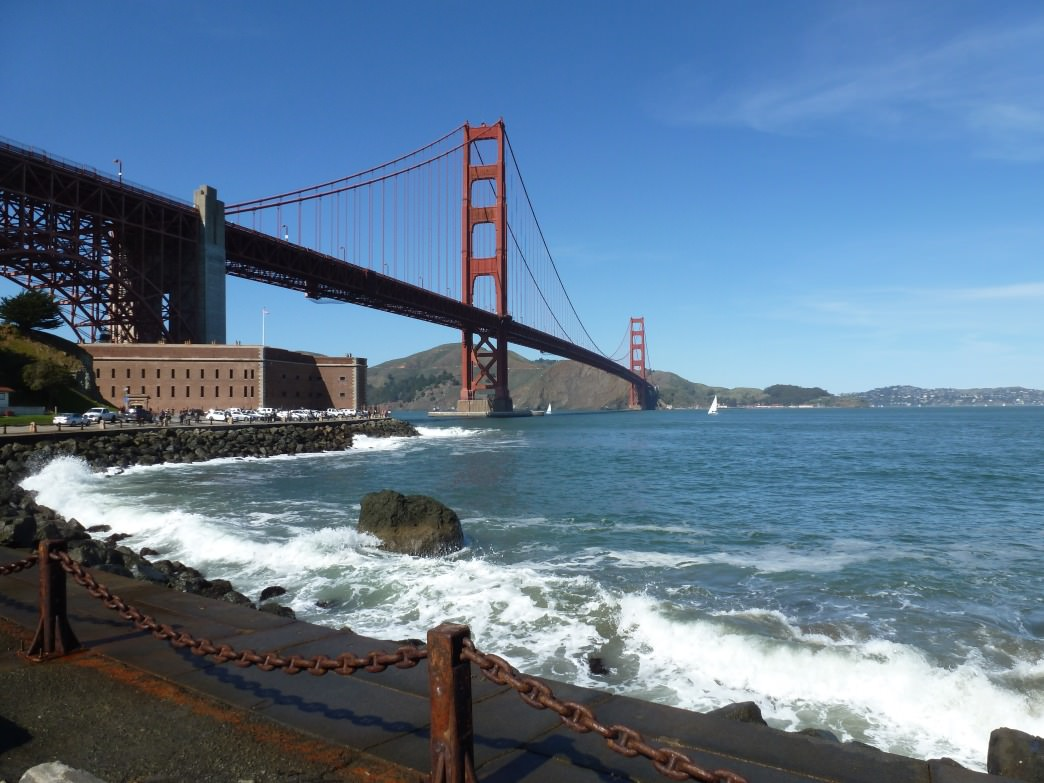The out-and-back route to Fort Point and Hopper's Hands is one of the most scenic in San Francisco.
