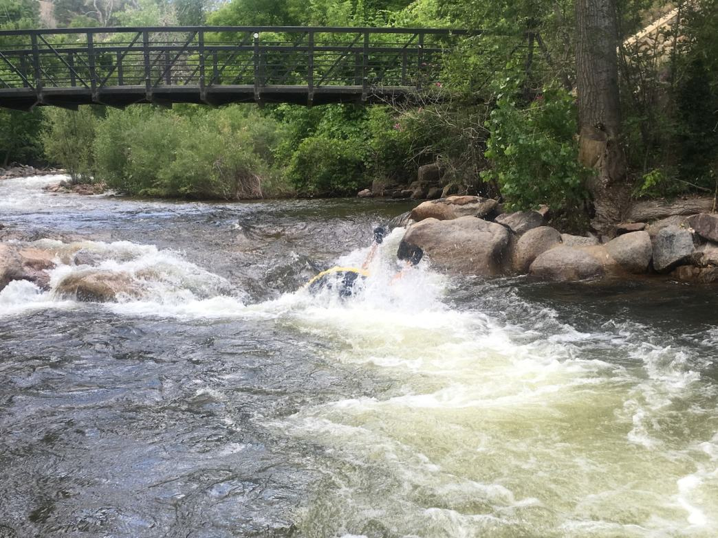 Lean too far back while running rapids and you're likely to flip.