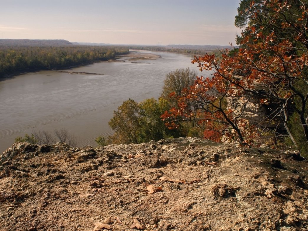 The Missouri River from Lewis and Clark Hiking Trail.
